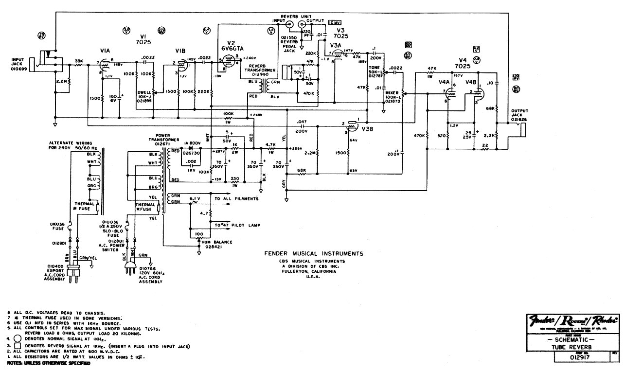 Schematics Wiring Diagram For Telecaster Free Download Schematic 70s Fender Reverb Unit