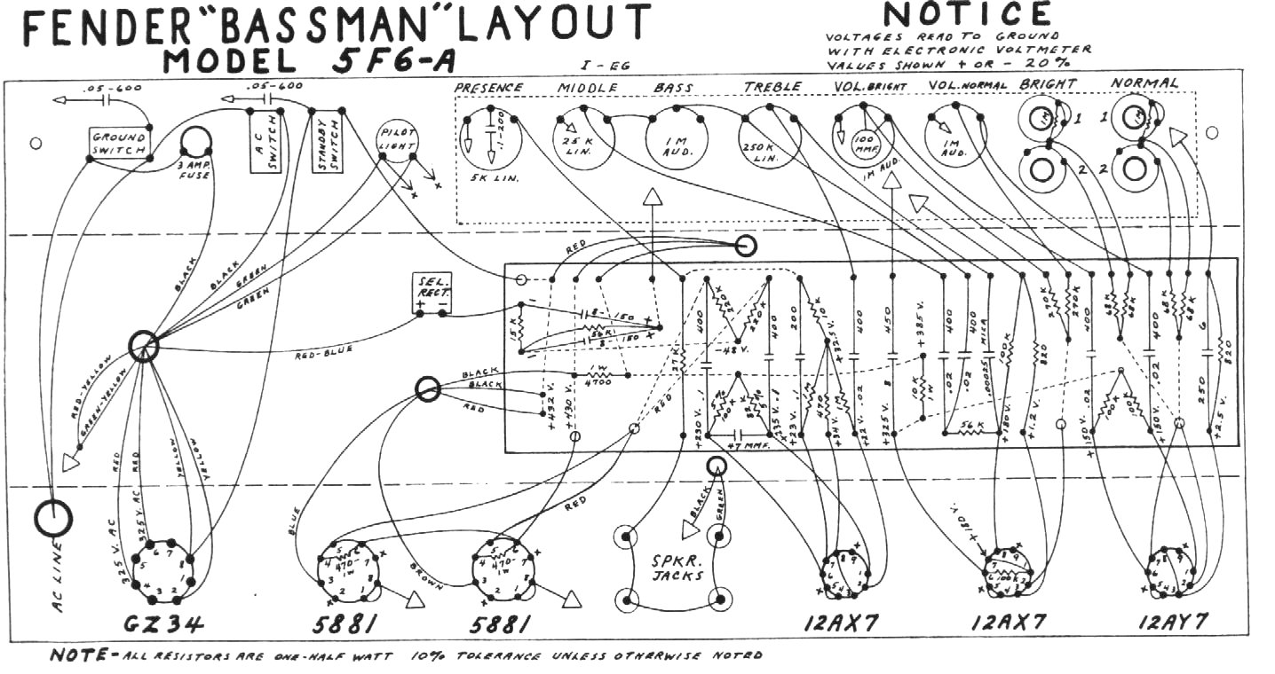 bman1  Amp Schematic Wiring Diagram on