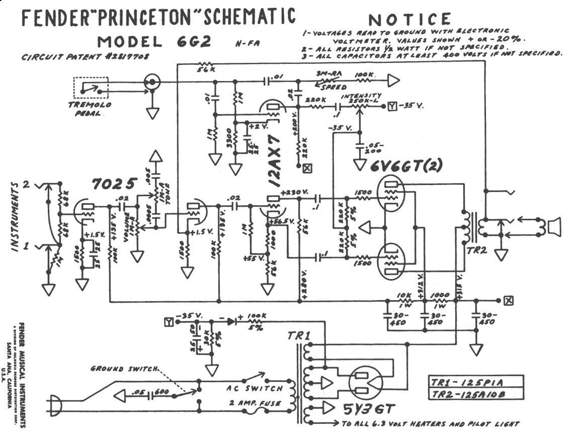 Schematics Fender Princeton Chorus Schematic on