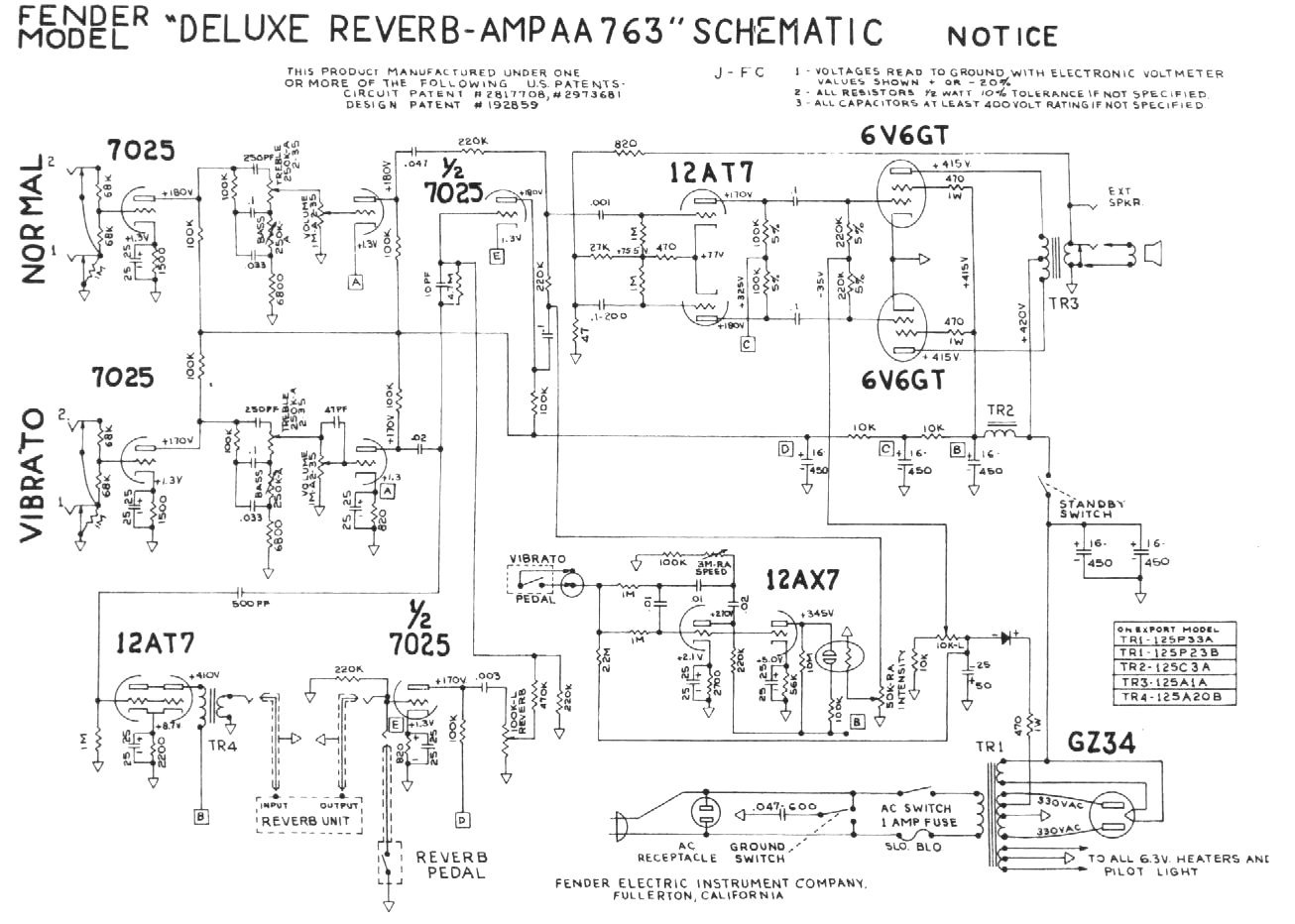 P additionally Twin Reverb Ab Schem additionally Delrev furthermore F A Layout moreover Mid S W. on fender twin amp schematic