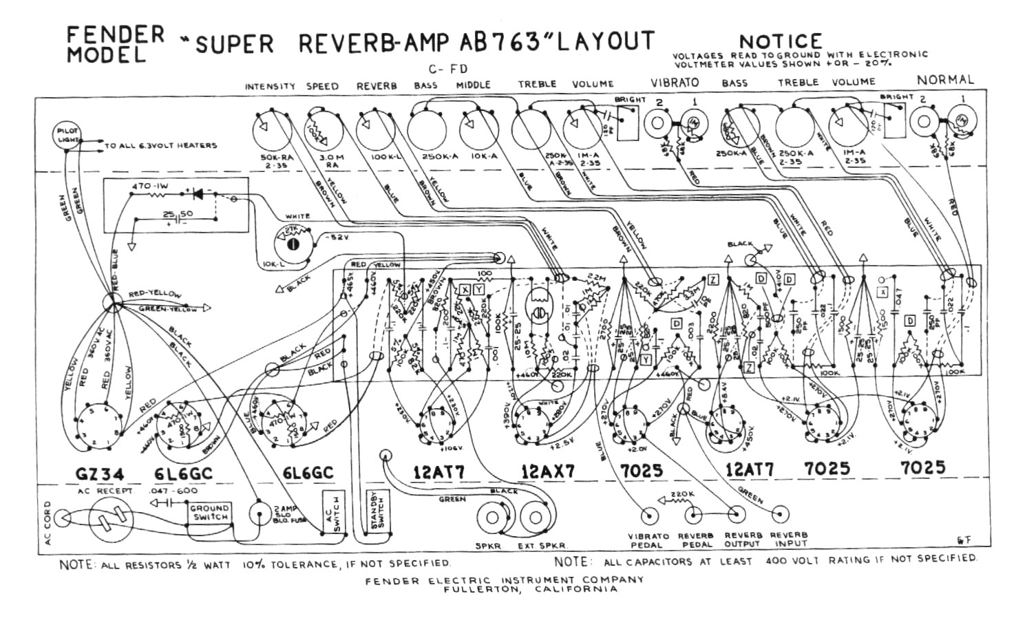 speaker wiring diagrams speaker wiring diagrams super reverb #7