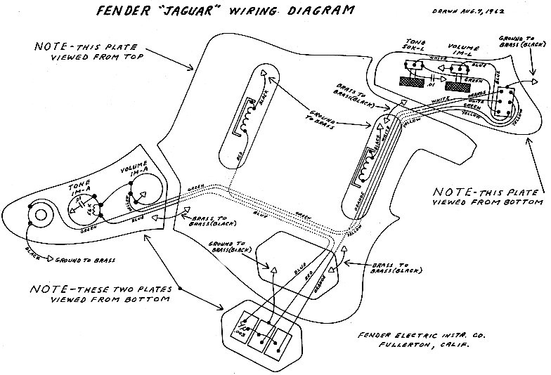 Fender Jaguar.  sc 1 th 185 : fender jaguar wiring diagram - yogabreezes.com